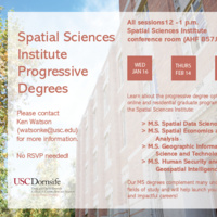 Spatial Sciences Institute Progressive Degree Info Session
