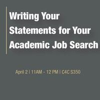 Writing Your Statements for Your Academic Job Search