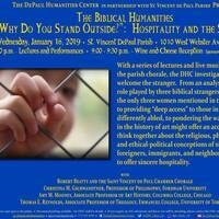 """The Biblical Humanities """"Why Do You Stand Outside?"""": Hospitality and the Stranger"""