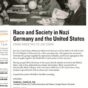 Race and Society in Nazi Germany and the U.S.