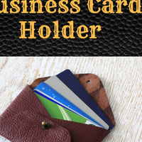 DIY No-Sew Leather Business Card Holder