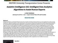 INSPIRE Webinar: Assistive Intelligence (AI): Intelligent Data Analytics Algorithms to Assist Human Experts