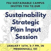 Sustainability Strategic Plan Input Session