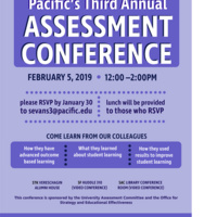 Pacific's 3rd Annual Assessment Conference