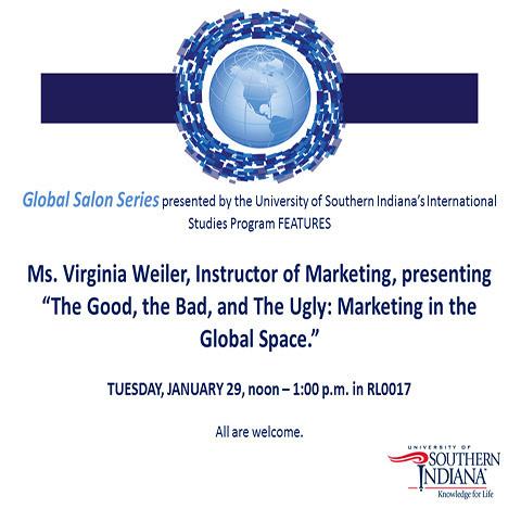 Global Salon Series Presents - Ms. Virginia Weiler at David L. Rice Library