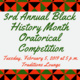 3rd Annual Black History Month Oratorical Competition