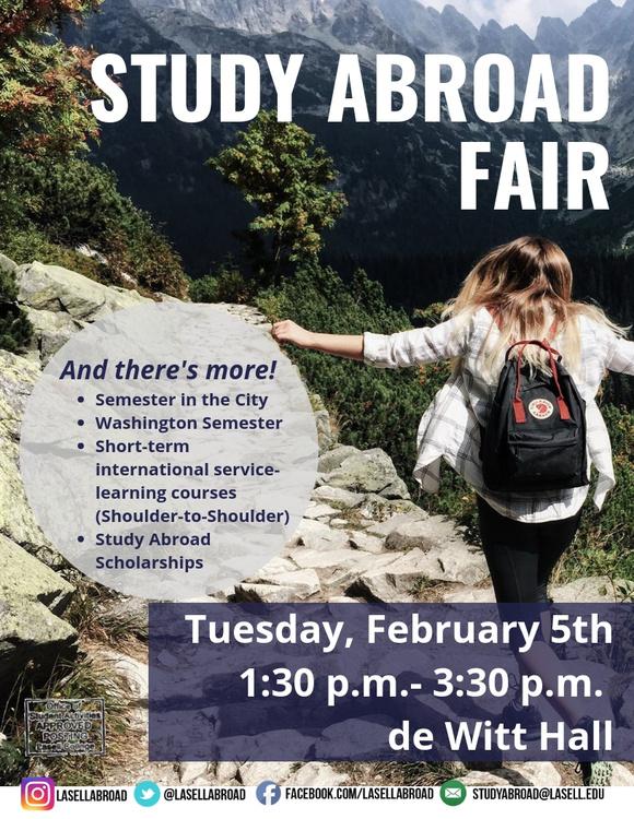 Study Abroad Fair at de Witt Hall