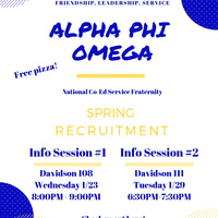 Alpha Phi Omega Information Session #1