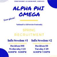 Alpha Phi Omega Information Session #2