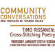 Community Conversations #6: MFA Textiles In-Studio Talks with Timo Rissanen