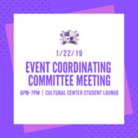 Event Coordinating Committee Meeting