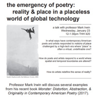 The Emergency of Poetry: Reality & Place in a Placeless World of Global Technology