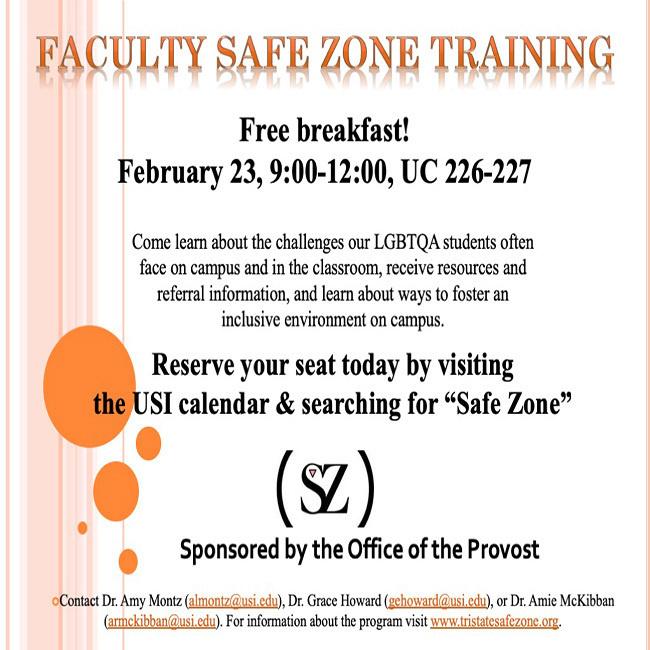 Faculty Safe Zone Training at University Center