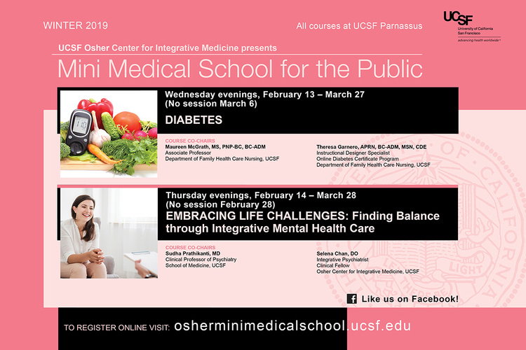 Mar 20, 2019: Mini Medical School - Diabetes at N-225 Auditorium