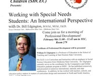 Working with Special Needs Students: An International Perspective
