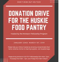 Honors McKearn Fellowship Program Donation Drive for the Huskie Food Pantry