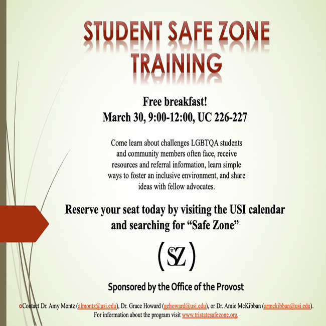 Student Safe Zone Training at University Center