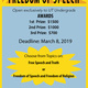 Free Speech Essay Contest - for UT undergrads