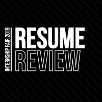 Internship Fair: Resume Review