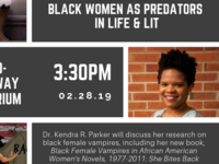 Event image for She Bites Back: Black Women As Predators In Life & Lit