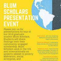 Blum Scholar Graduate Presentations