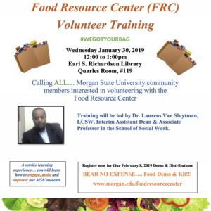 Food Resource Center's Volunteer's Training