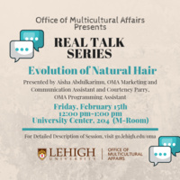 Real Talk Series: Evolution of Natural Hair   Multicultural Affairs