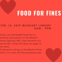 Food for Fines - MassArt Library