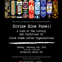 Divine Nine Panel: A Look At The History and Traditions of Black Greek Letter Organizations | Multicultural Affairs