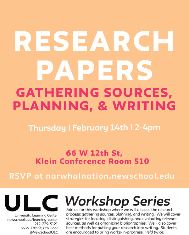 Research Papers Workshop