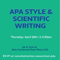 APA Style & Scientific Writing