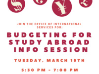 Budgeting For Study Abroad Info Session