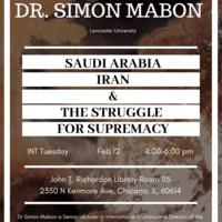 Dr. Simon Mabon Lecture