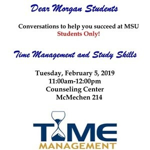 Dear Morgan Students - Time Management