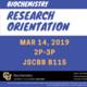 Biochemistry Research Orientation