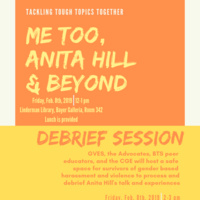 Me Too, Anita Hill & Beyond | Council for Equity and Community