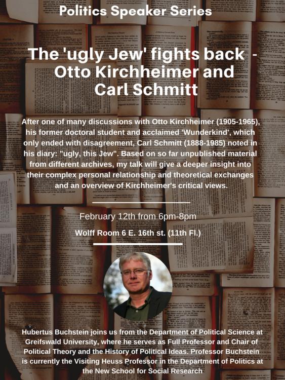 Politics Speakers Series: HubertusBuchstein