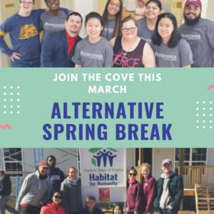 Application Deadline: COVE Alternative Spring Break Applications