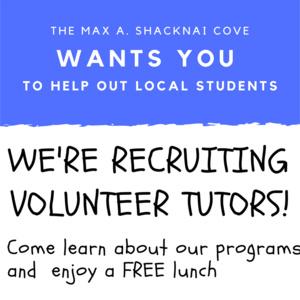 COVE Volunteer Recruitment for Local Tutors