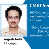 CMET Seminar - Yogesh Joshi, IIT Kanpur