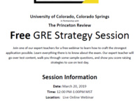 Free GRE Strategy Session