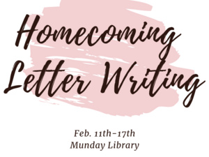Homecoming Letter Writing