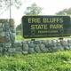 Erie Bluffs After Dark