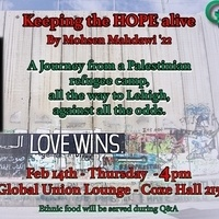 Keeping the HOPE alive: a journey from a Palestinian refugee camp to Lehigh University | Global Union