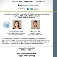 Exploring non-fatal gun violence trends and experiences at Mount Sinai Hospital and Schwab Rehabilitation Hospital on the Westside of Chicago