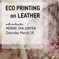 Workshop: Eco Printing on Leather