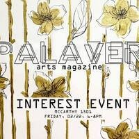 PALAVER Arts Night/Open Mic