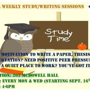 BGSA Weekly Writing and Study Sessions