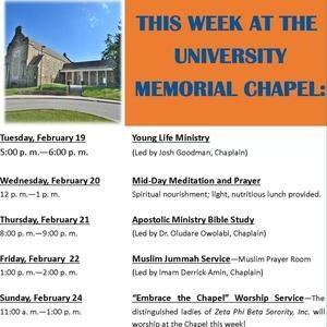 This Week At the Chapel