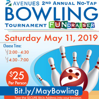 Avenues 2nd Annual No-Tap Bowling Tournament Fundraiser & Silent Auction